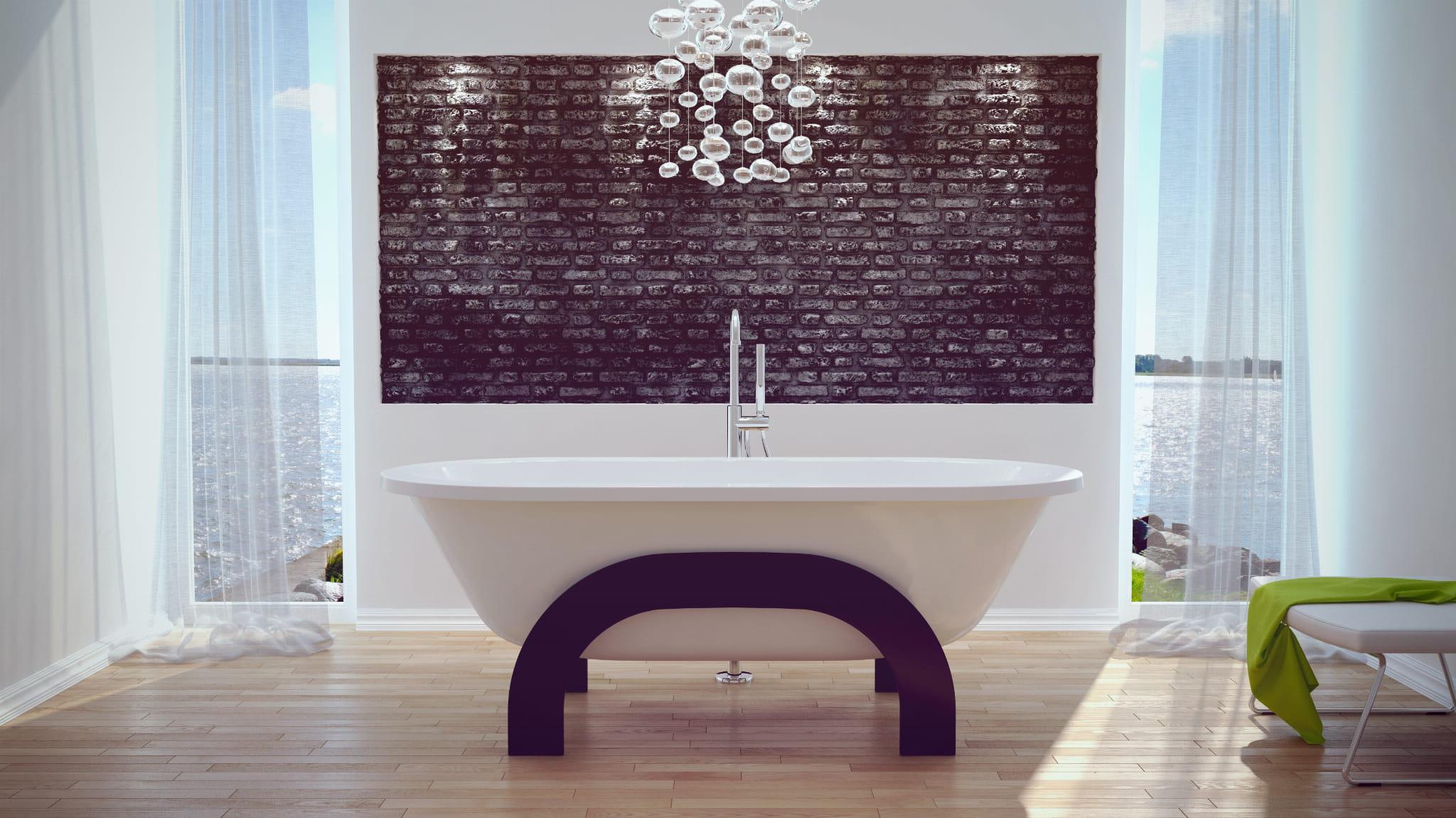 Besco wanna wolnostojąca Gracja drewniana obudowa 185 x 83 cm biała