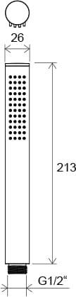 Ravak  słuchawka prysznicowa, 1-funkcyjna, chrom    957.00  X07P007