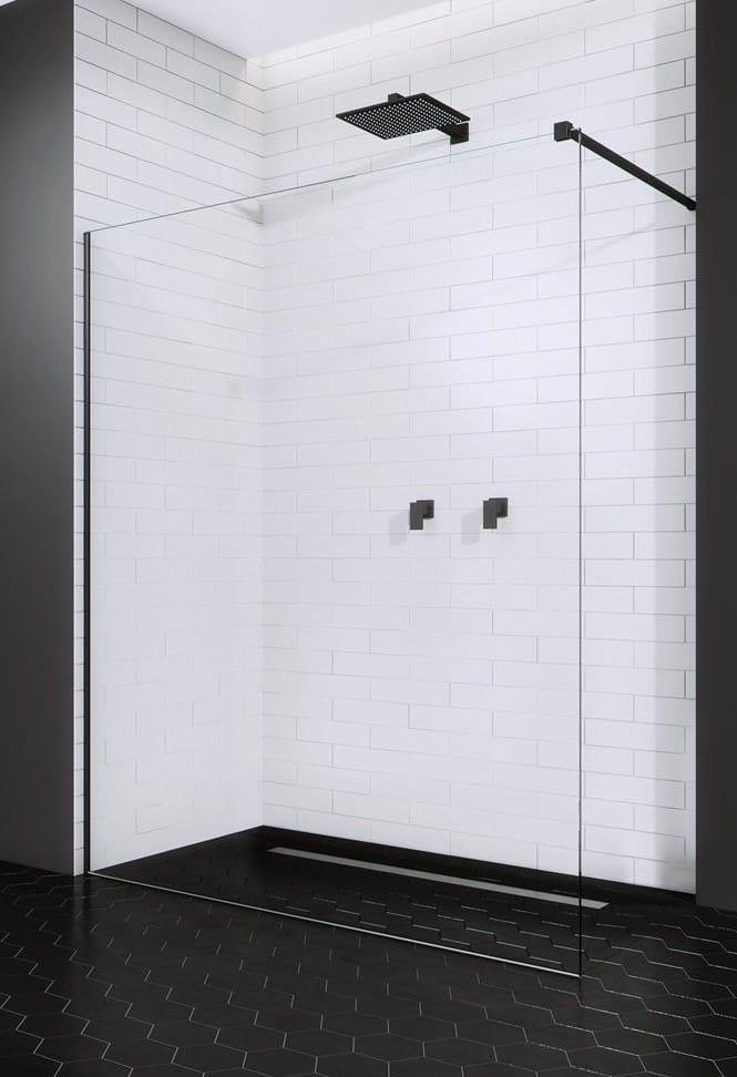Kabina prysznicowa Walk-In Radaway Modo New Black II 100 cm, szkło przejrzyste, wys.200 cm 389104-54-01