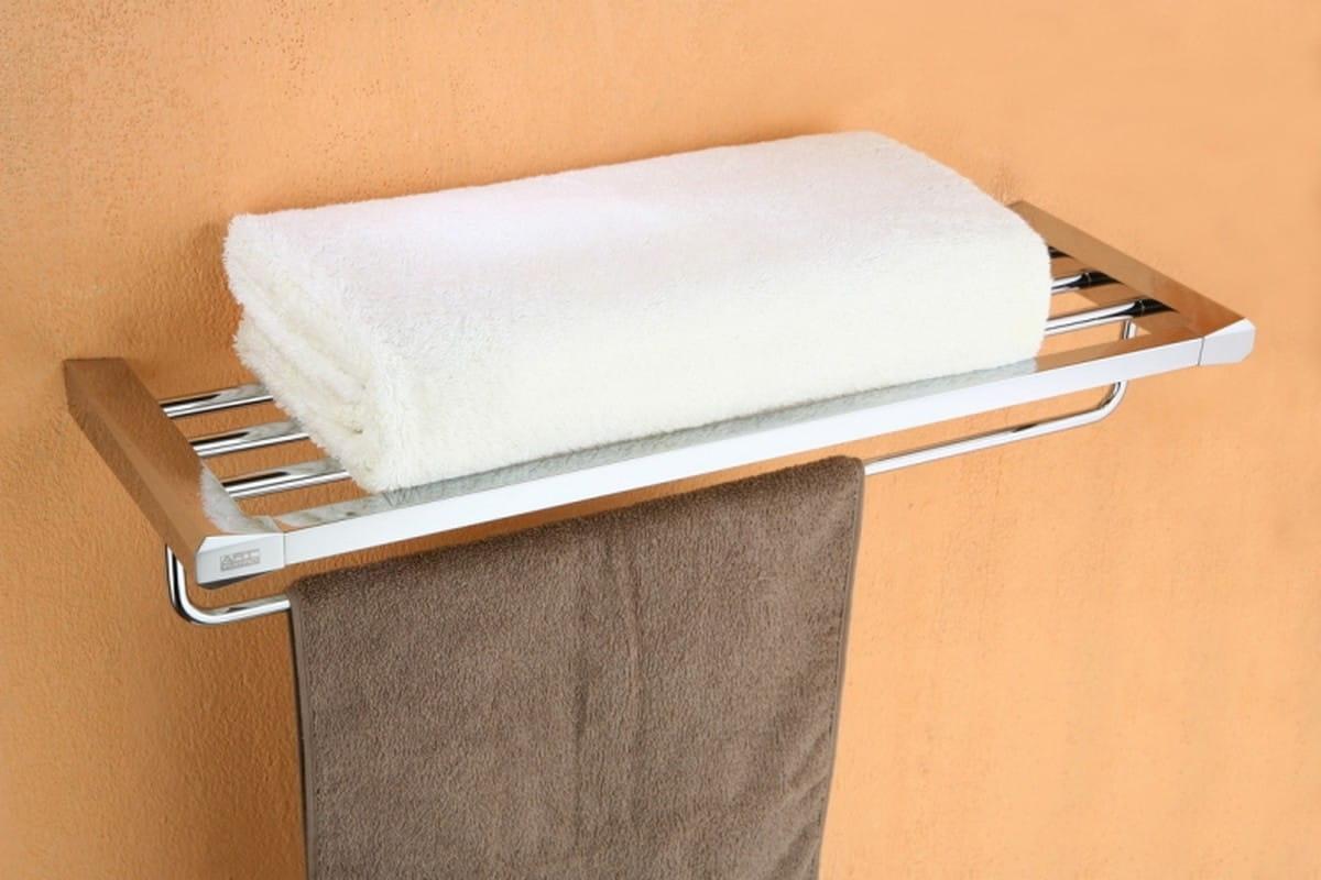 Art Platino Rok półka na ręczniki z relingiem chrom ROK-87012