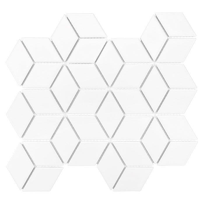 DUNIN płytka ceramiczna MINI ROMBIC WHITE 48
