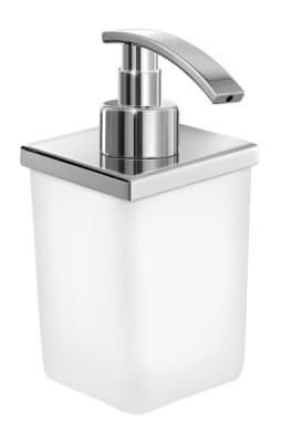 Sanco Nowoczesny dozownik mydła szklany stojący Chrom