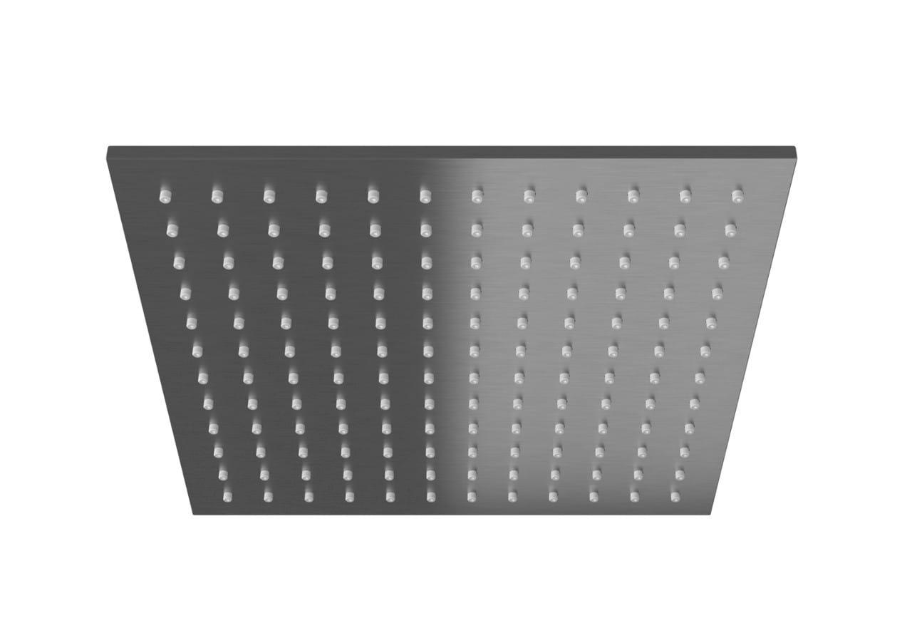 Kohlman deszczownica kwadratowa Q25  25x25 cm grafit