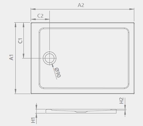 Radaway brodzik akrylowy Doros F 90x70cm  SDRF9070-01