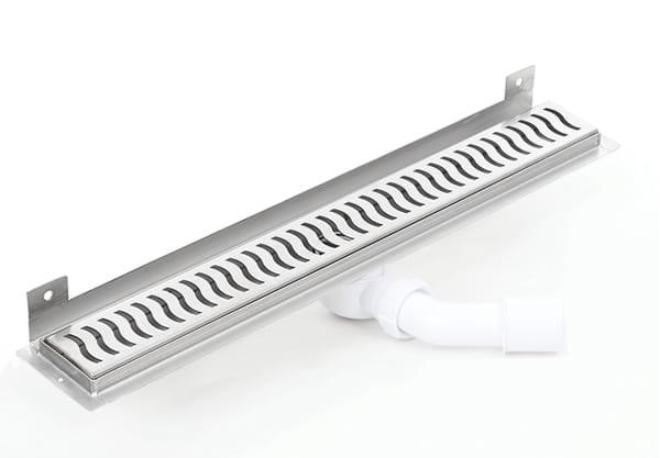 Kesmet Wall Silver Wave odpływ ścienny 1100KWF_p 1100mm (syfon plastikowy)