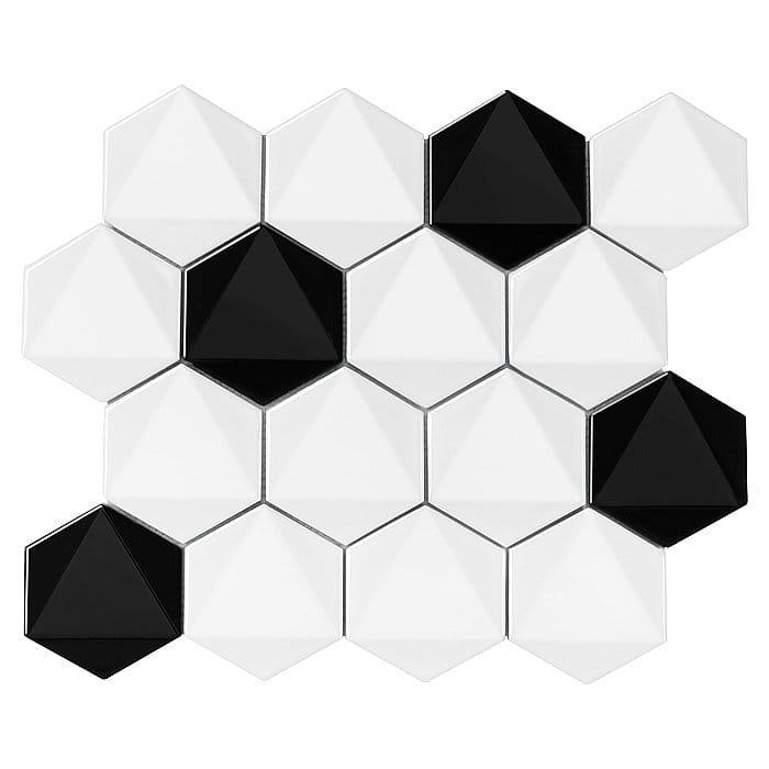 DUNIN mozaika ceramiczna HEXAGONIC B&W MIX 74