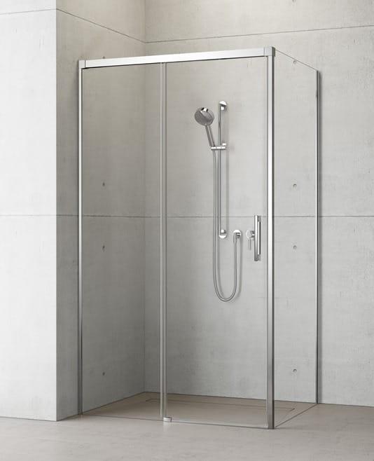 Kabina prysznicowa Radaway Idea KDJ drzwi 160 lewe x ścianka 80 prawa, szkło przejrzyste wys. 205 cm, 387046-01-01L/387051-01-01R