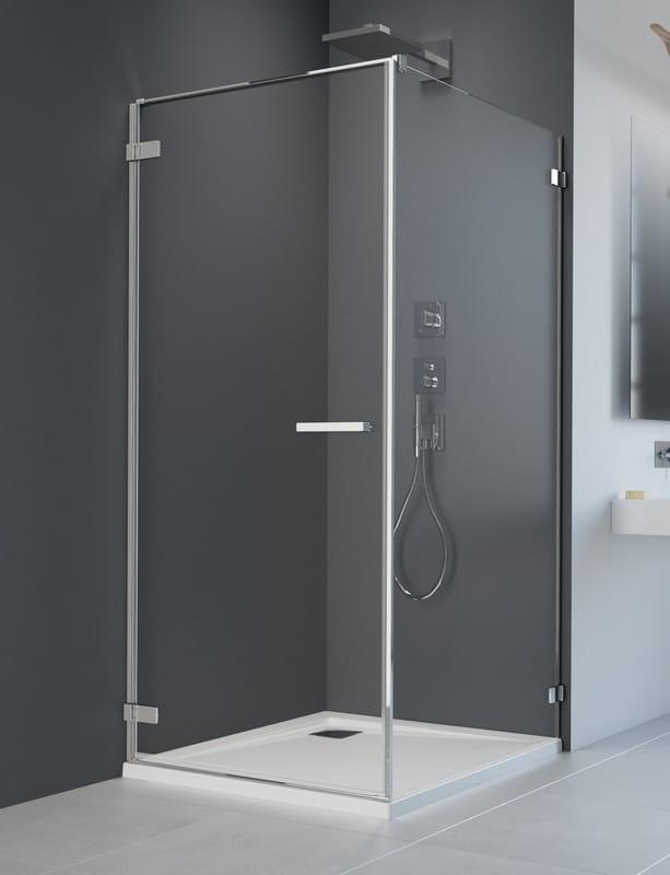 Kabina prysznicowa prostokątna Radaway Arta KDJ I drzwi 100 lewe x ścianka 80 szkło przejrzyste wys. 200 cm, 386083-03-01L /386020-03-01