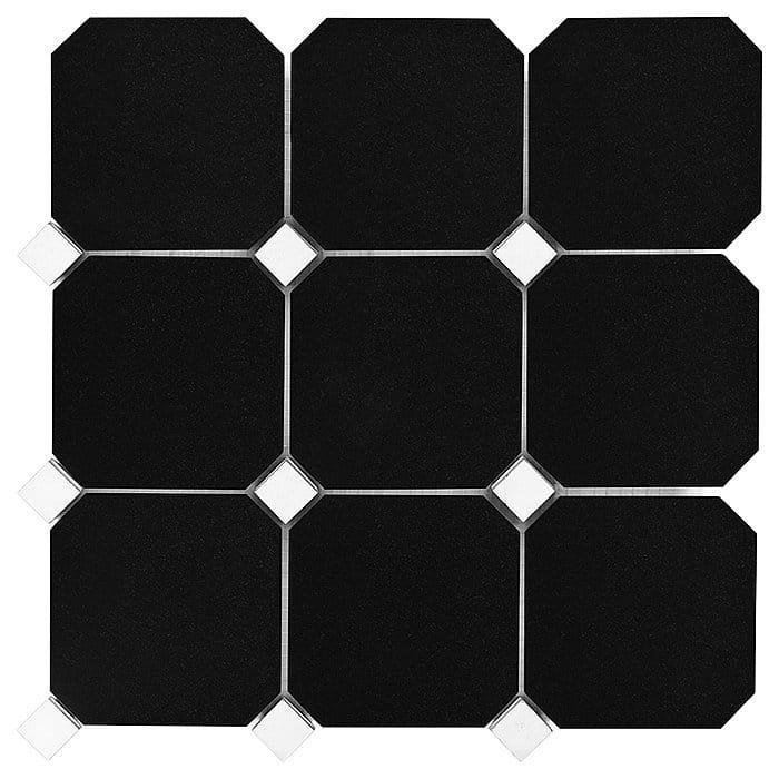DUNIN B&W Black & White mozaika Granite Black Octagon 100