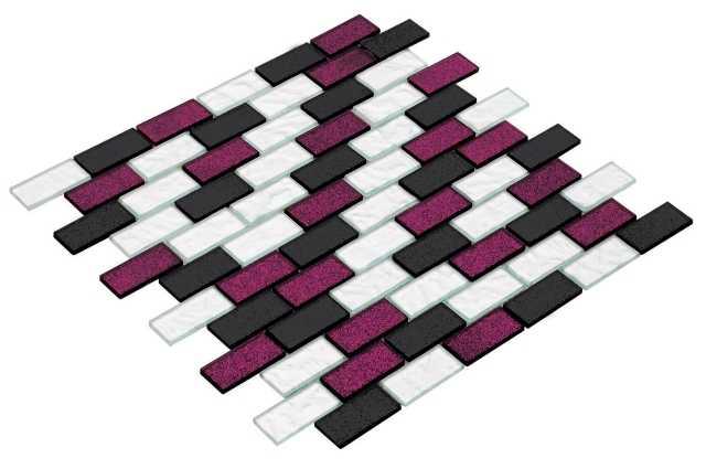 Goccia Crystal mozaika szklana 23x48 CR3016