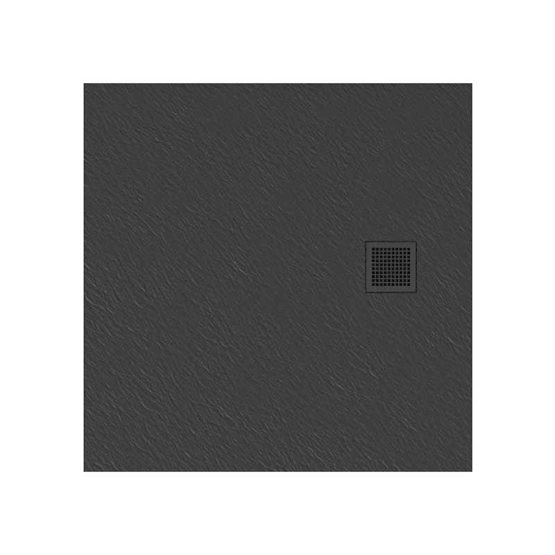 New Trendy   Brodzik MORI kwadratowy, konglomerat 90x90x3cm  szary  B-0395