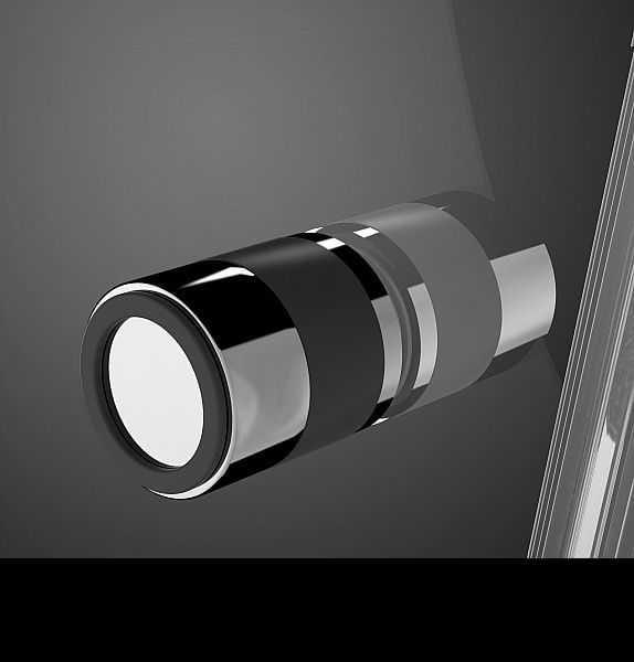 Kabina prysznicowa półokrągła Radaway EOS PDD 90 x 90 - uchwyt czarny