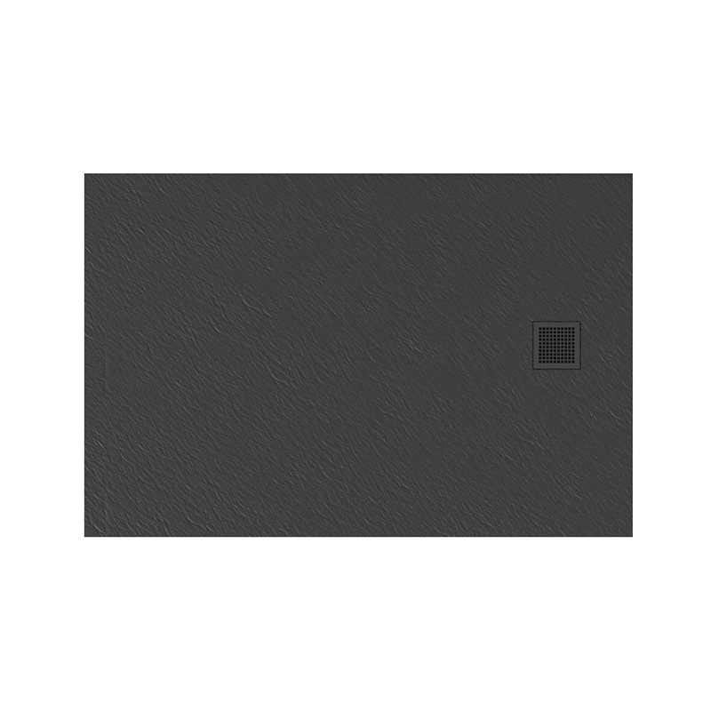 New Trendy | Brodzik MORI prostokątny, konglomerat 100x90x3cm  szary  B-0397