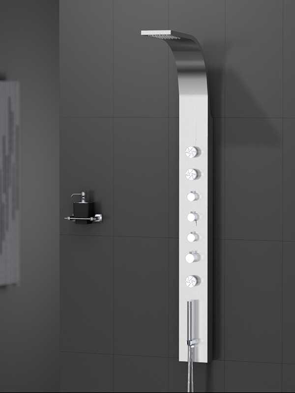 New Trendy Aquos panel prysznicowy natynkowy z termostatem  EXP-0003
