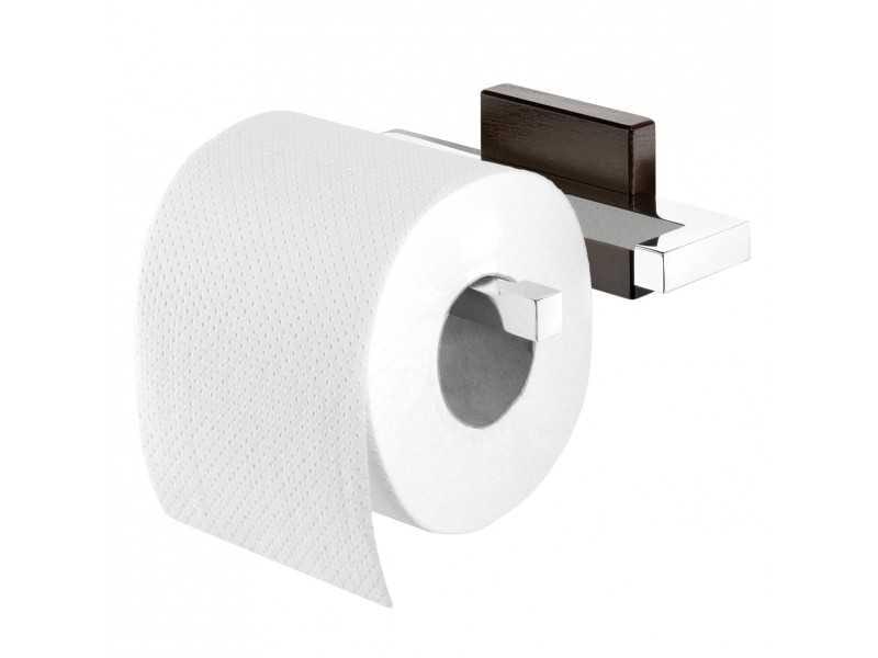 Tiger Zenna wieszak na papier toaletowy chrom/wenge 3515.3