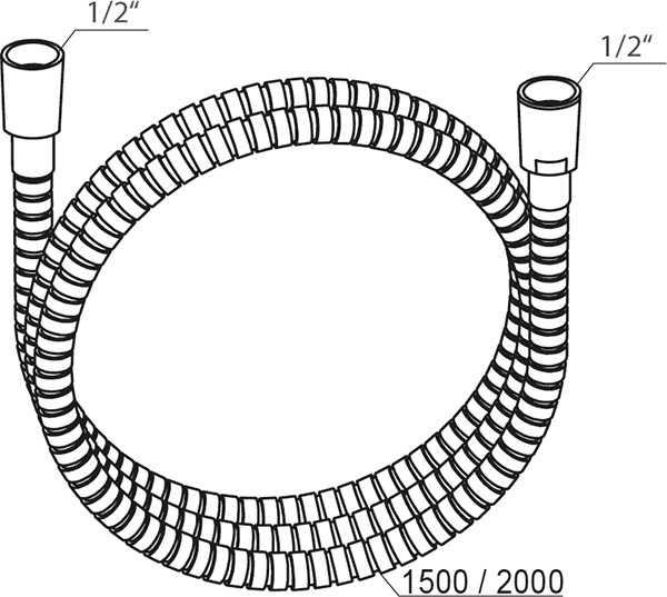 Ravak  wąż prysznicowy 200 cm metalowy z ochronną warstwą  915.02 X07P341