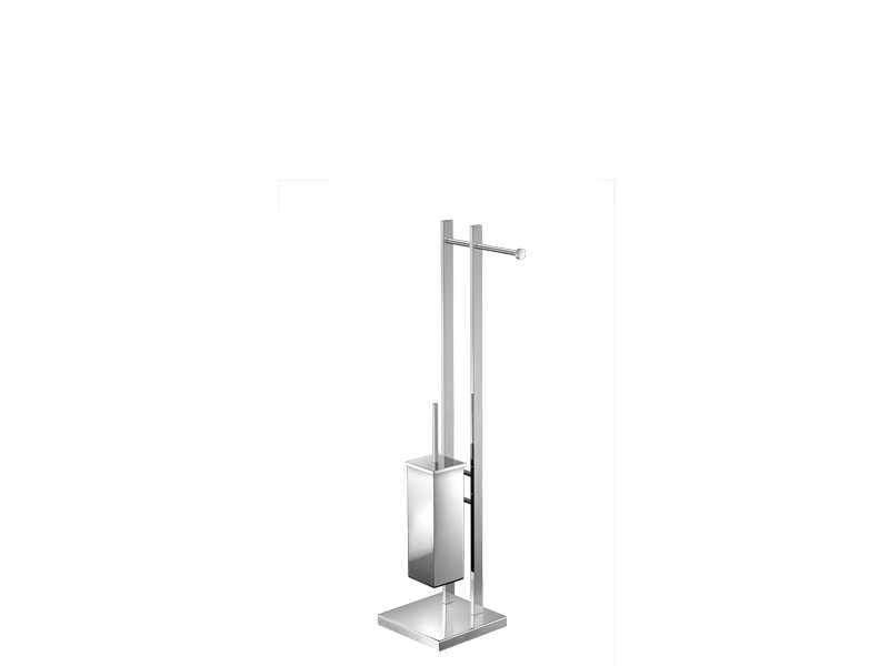 Sanco kwadratowy stojak ze szczotką WC i uchwytem na papier A3-508