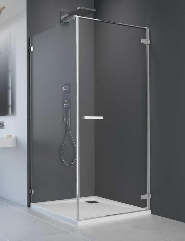 Kabina prysznicowa prostokątna Radaway Arta KDJ I drzwi 80 prawe x ścianka 100 szkło przejrzyste wys. 200 cm, 386081-03-01R /386022-03-01