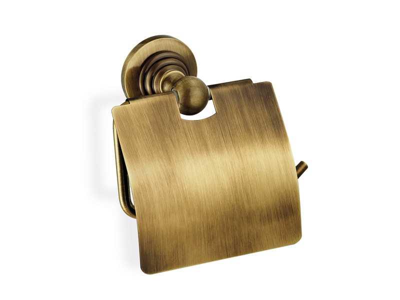 Sanco Retro ELINA  uchwyt na papier z klapką Stare złoto A25-6517