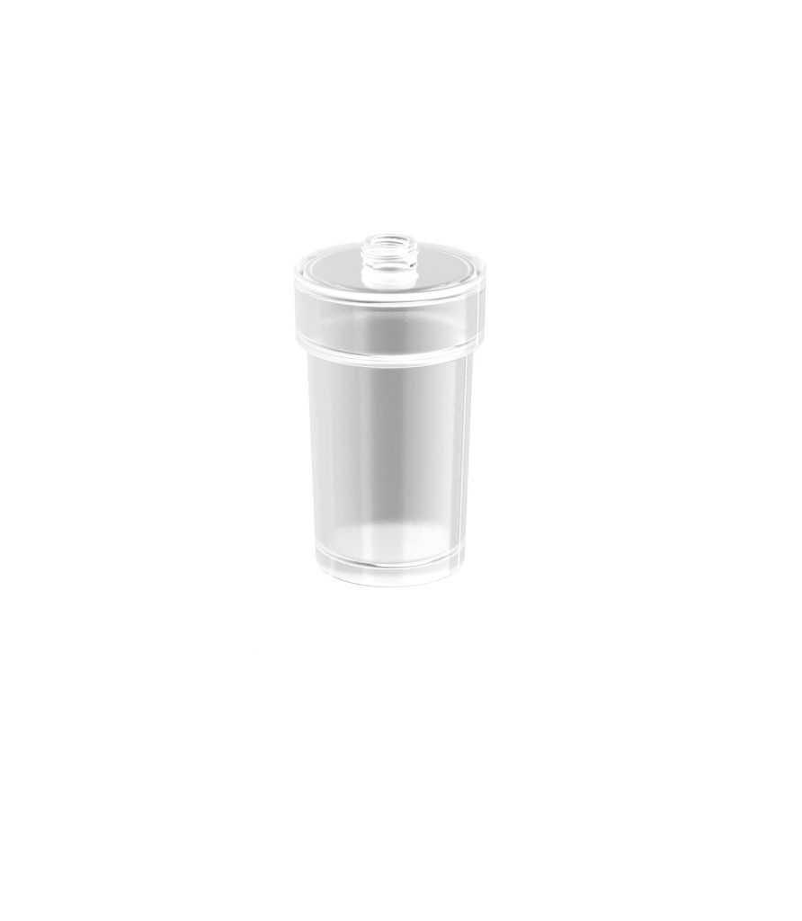Stella pojemnik szklany do dozownika / bez uchwytu i pompki 80.027 do New York (05.423) , Soul (06.423)