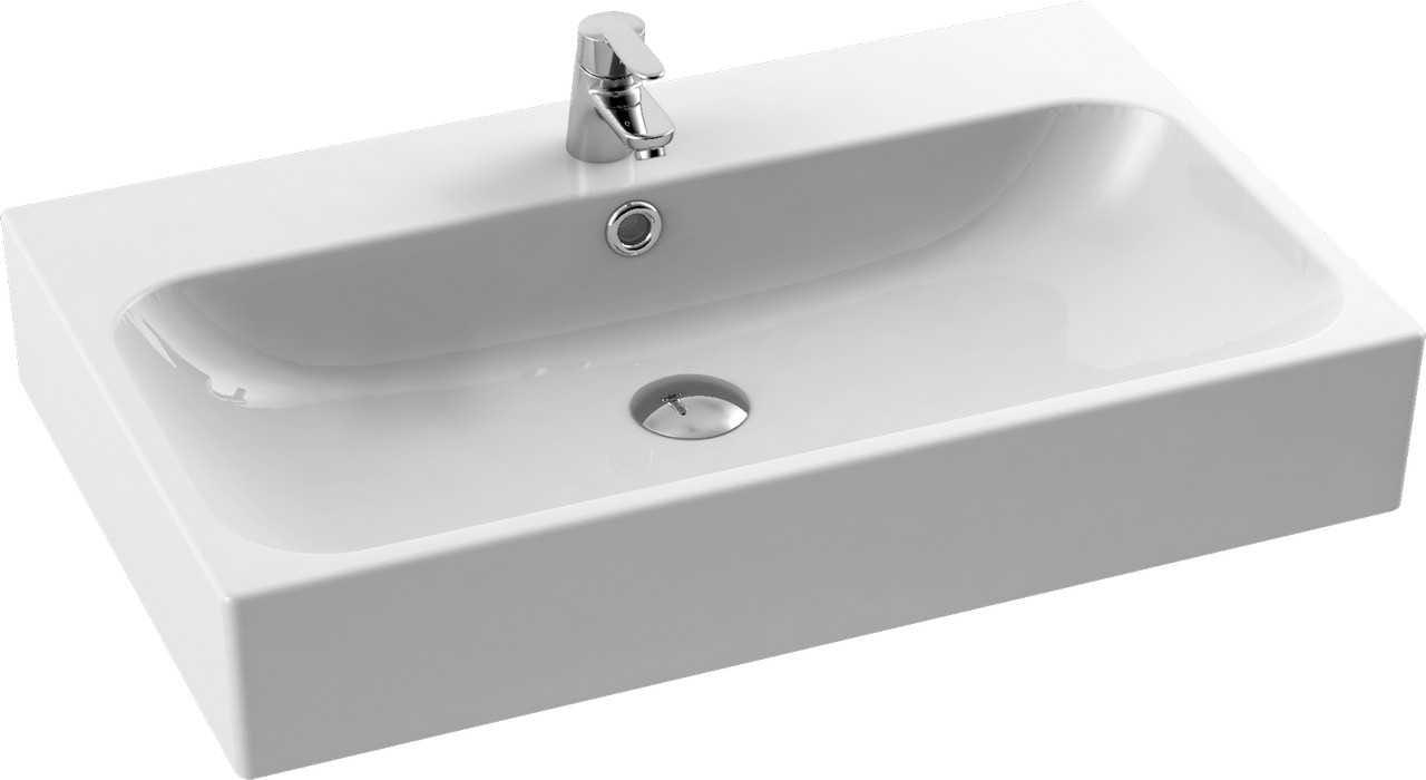 CeraStyle  umywalka Pinto, 75 cm 080000-u/U-0077