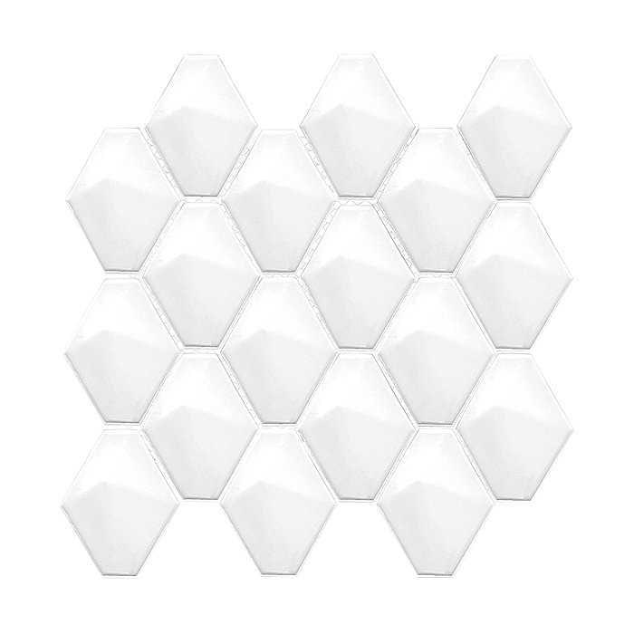 DUNIN Mini Carat White mozaika ceramiczna