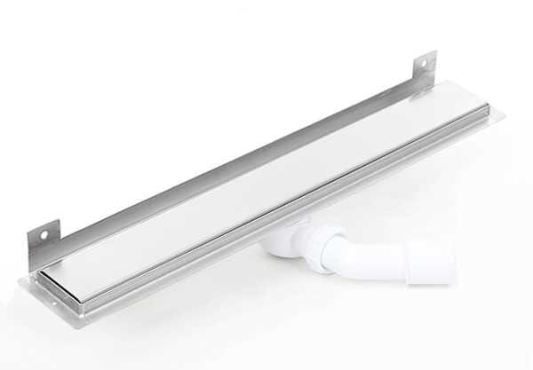 Kesmet Wall Silver Smooth odpływ ścienny 800KWF_p 800mm (syfon plastikowy)