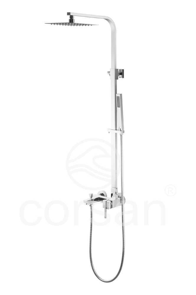 Corsan panel prysznicowy Quadra Ultra Slim z wylewką   SC-8029