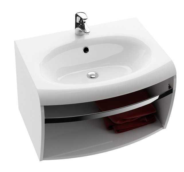 RAVAK szafka pod umywalkę SD Evolution, z relingiem, biała   X000000364