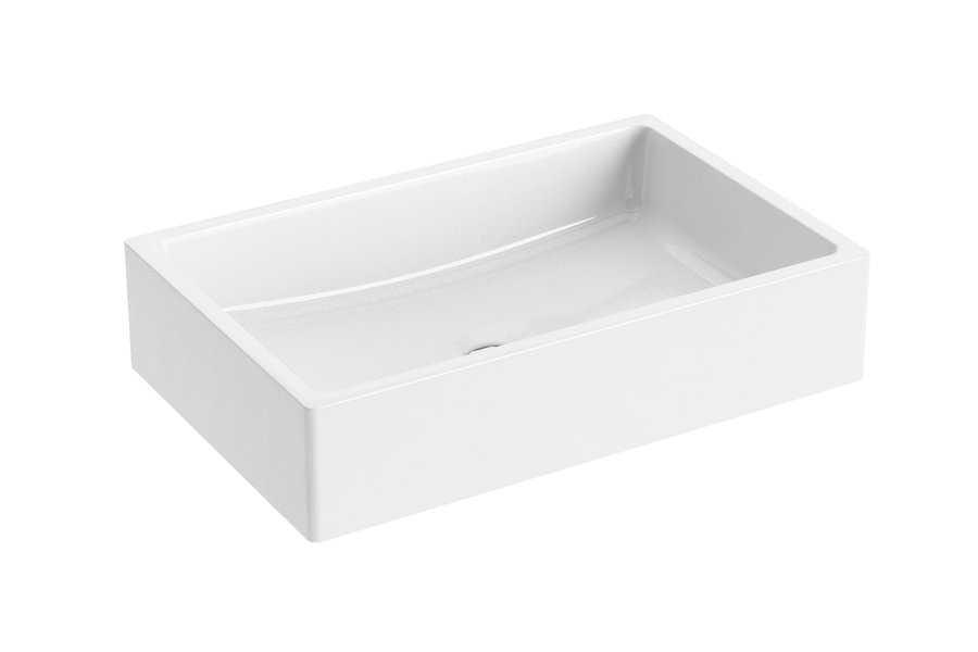 Ravak umywalka Formy 01 600 D white bez przelewu XJL01260000