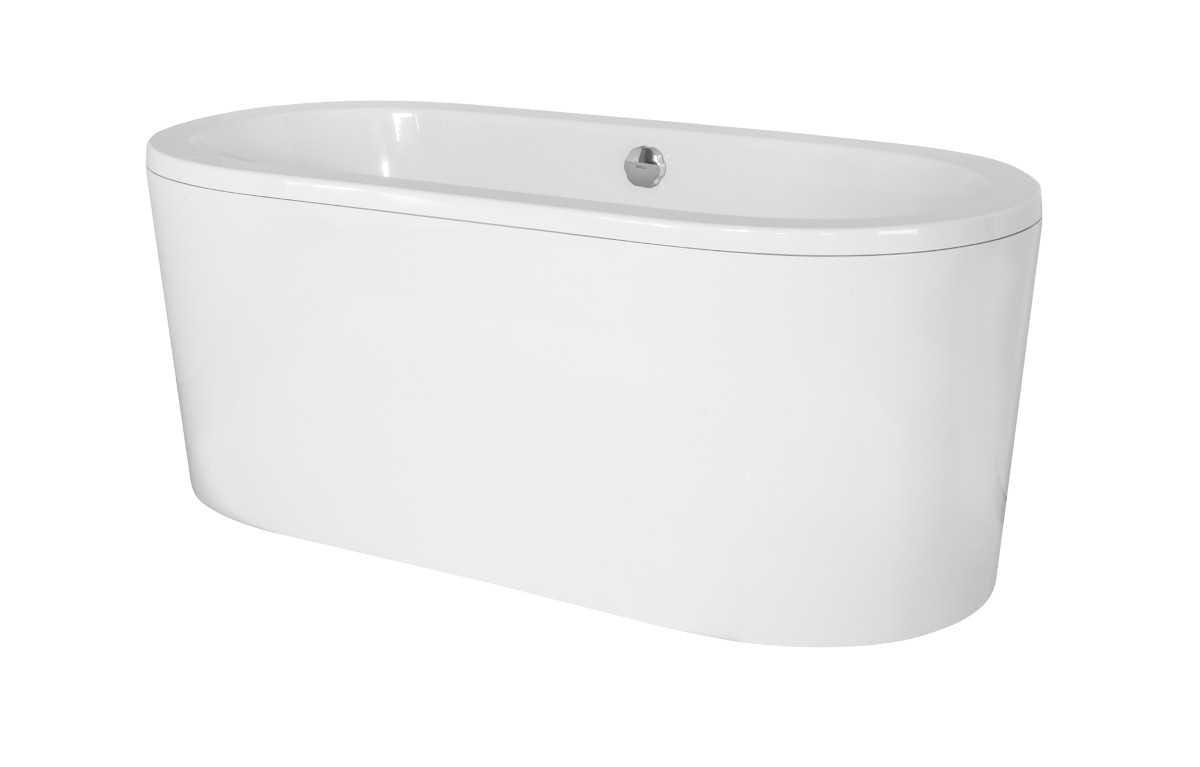 Besco wanna wolnostojąca Victoria 160 x 75 cm biała + syfon klik-klak