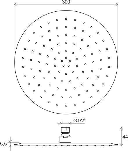 Ravak deszczownica Slim Chrome 984.00, okrągła  ø30cm  X07P336