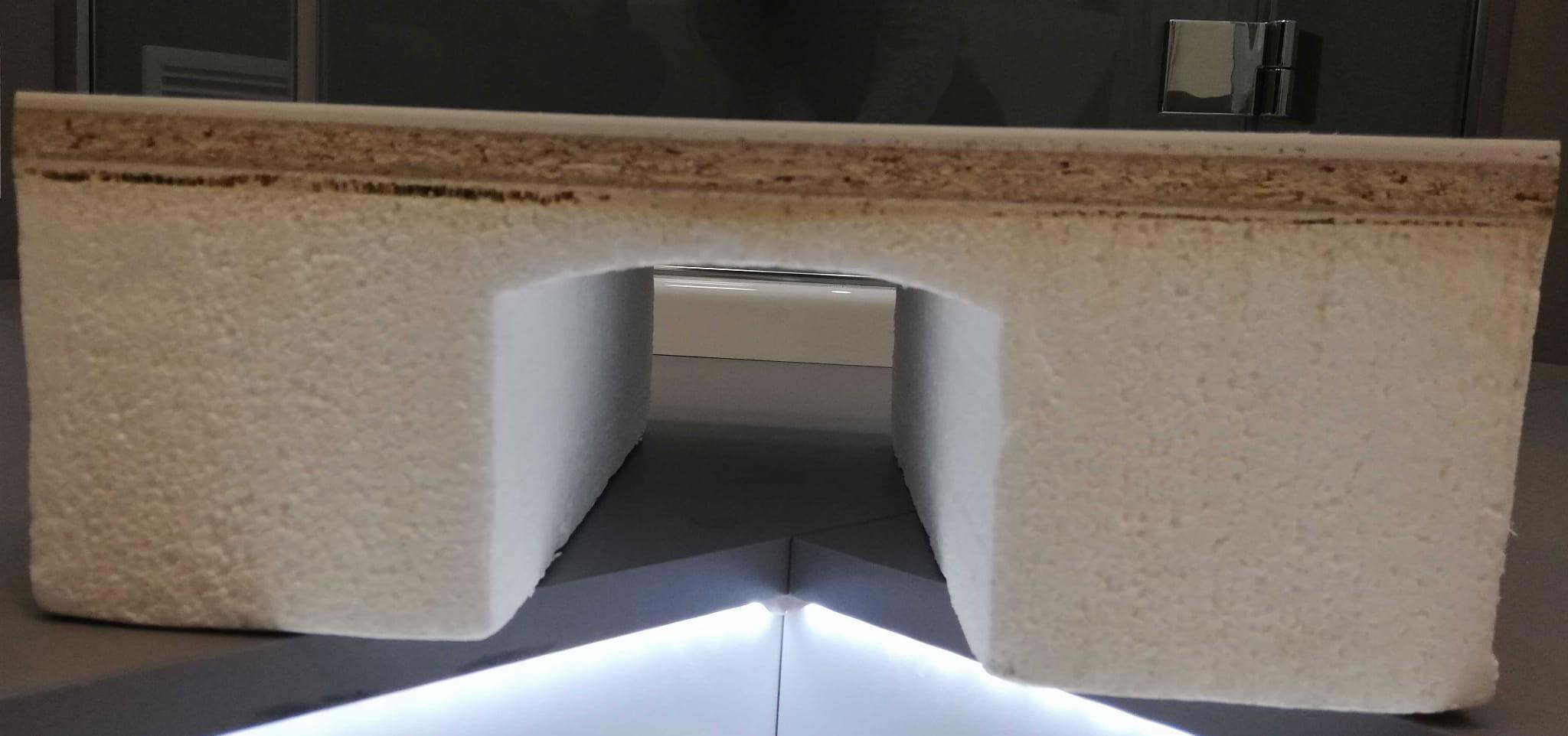 RADAWAY brodzik akrylowy Siros C 90 na podstawie styropianowej DO OBUDOWANIA.  SBC9917-1