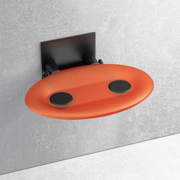 Ravak siedzisko prysznicowe Ovo-P Orange/czarne  B8F0000044
