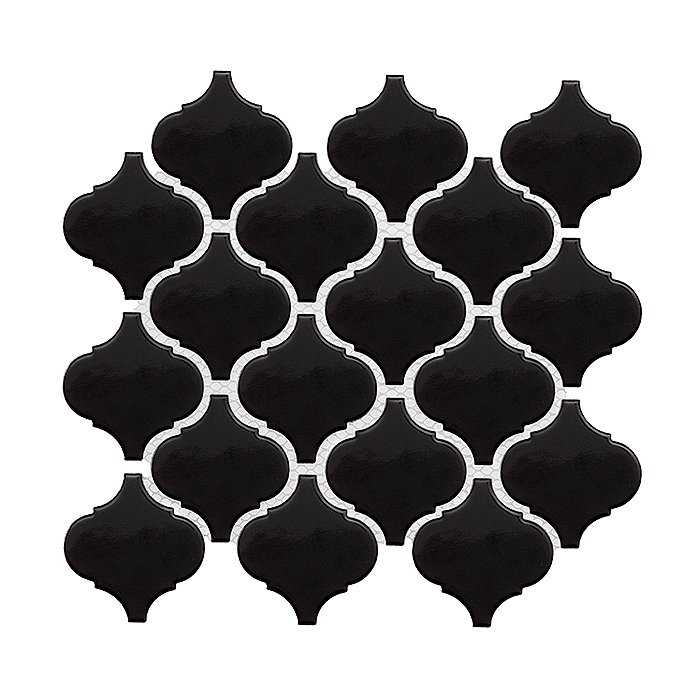 DUNIN Mini Arabesco Black mozaika ceramiczna