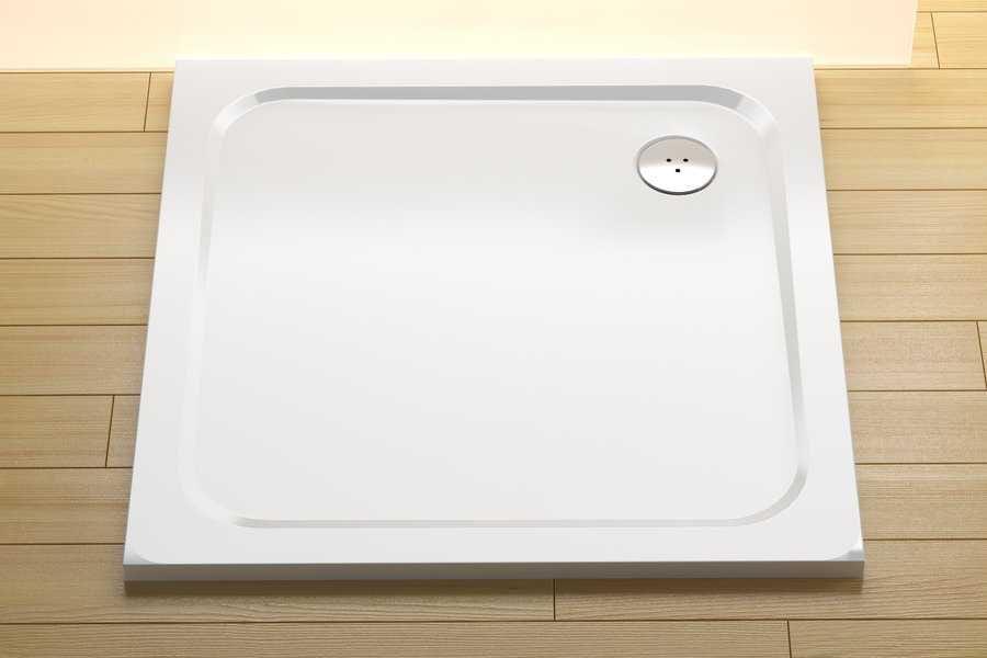 Ravak brodzik prysznicowy Perseus Pro Chrome 90 biały  XA047701010