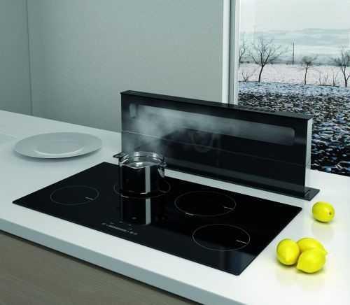 Best Swan Czarny 90 cm,  okap kuchenny do zabudowy w blacie 07G2330A