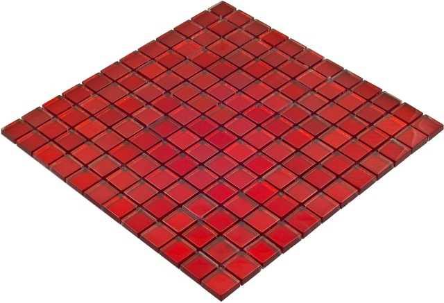 Goccia Color Line mozaika szklana czerwona,  30x30 cm      CLS1603