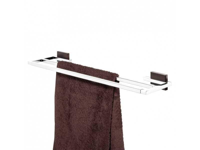 Tiger Zenna wieszak na ręcznik kąpielowy podwójny chrom/wenge 3511.83