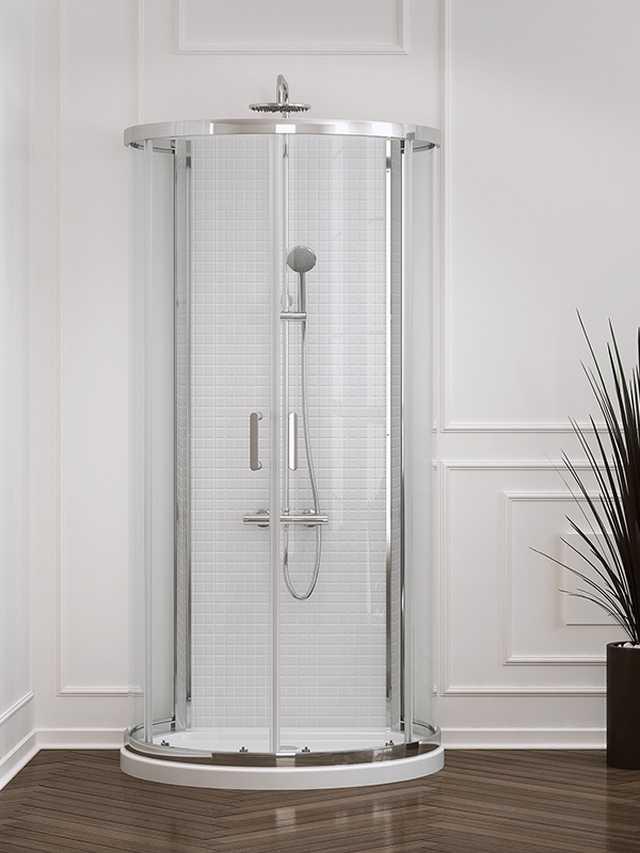 Kabina prysznicowa przyścienna New Trendy Gold New Rondo wys. 190 cm