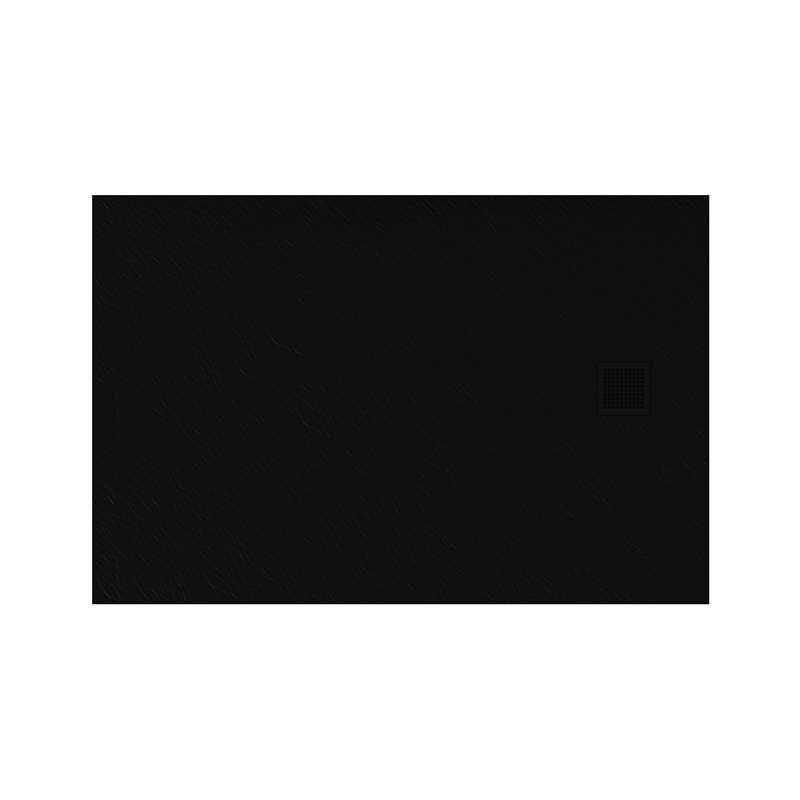New Trendy | Brodzik MORI prostokątny, konglomerat 100x80x3cm  czarny  B-0403