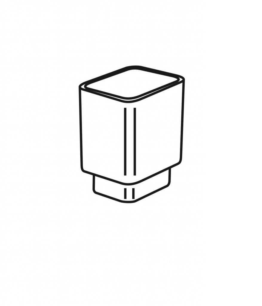 Stella szklany pojemnik do szczotki wc 02.431 Oslo 80.049