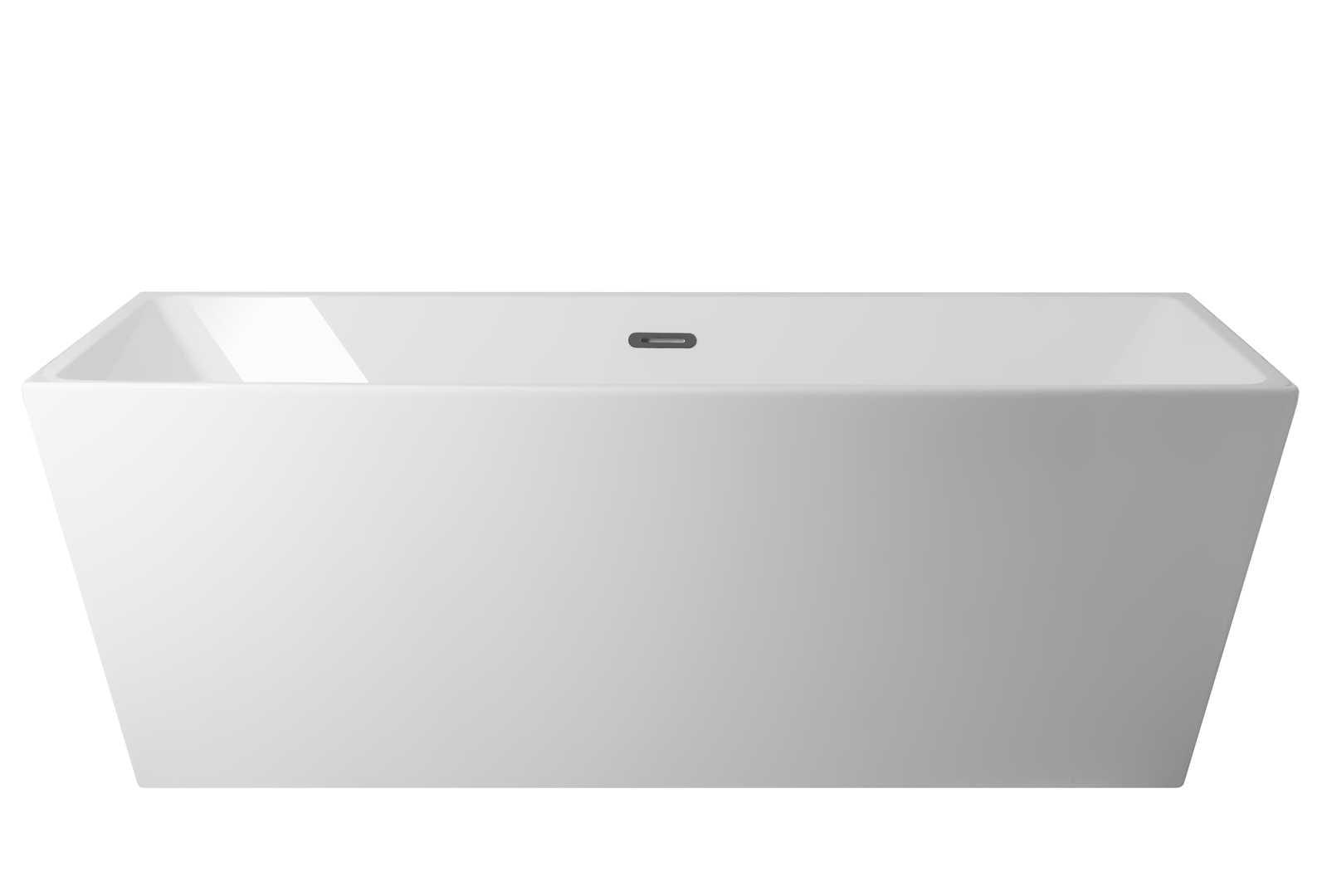 Corsan wanna wolnostojąca akrylowa LONGA 170x80x58 cm  E033  + syfon klik-klak/ biała