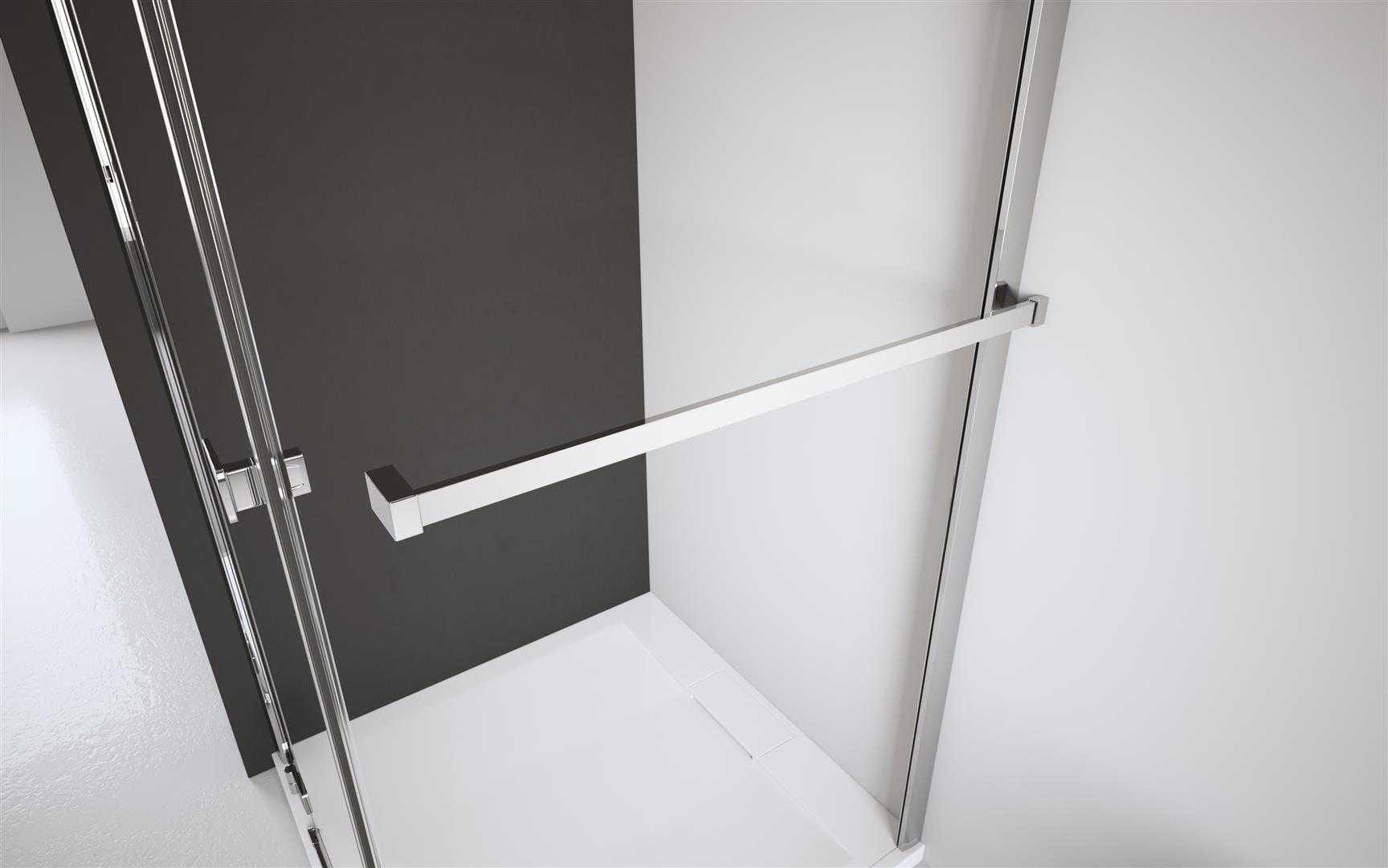 Radaway wieszak na ręcznik (montaż do szyby i do ściany stałej prawy) chrom + WRW03-R