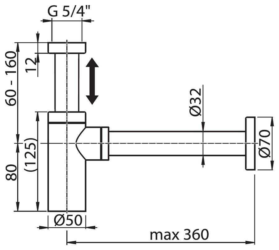 Ravak syfon umywalkowy  chrom  X01371