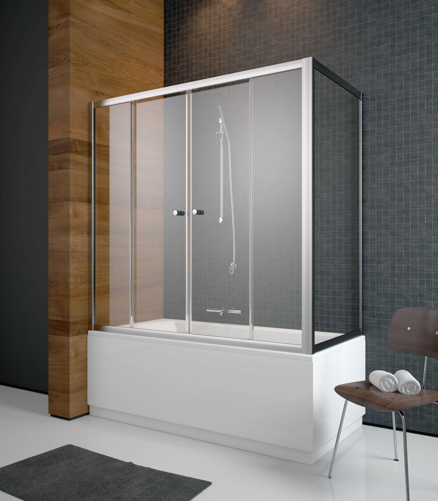Radaway zabudowa nawannowa Vesta DWD+S 150 x 65,  szkło Fabric, wys. 150 cm 203150-06/204065-06