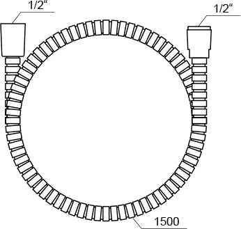 Ravak  wąż prysznicowy 150 cm z tworzywa  912.50 X07P065