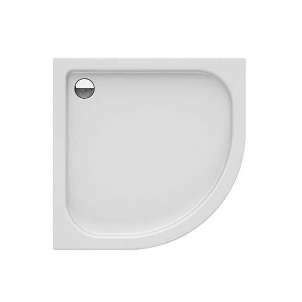 New Trendy | Brodzik półokrągły R55 DOMIO  80 x 80 x 16 cm   B-0349