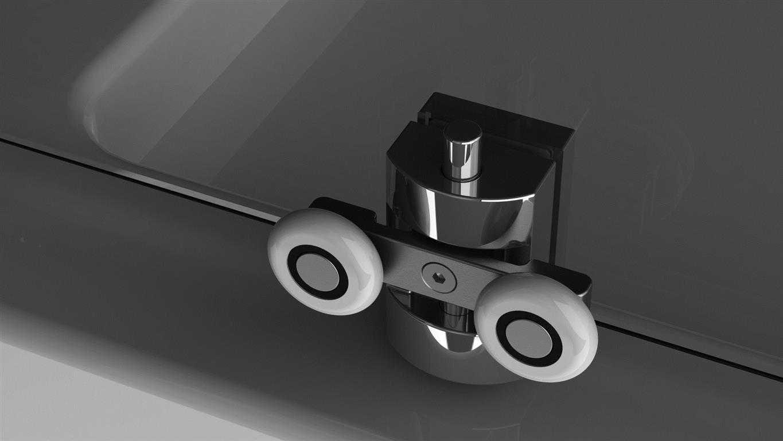 Kabina prysznicowa półokrągła Radaway Premium Plus A 90 cm - rolka dolna