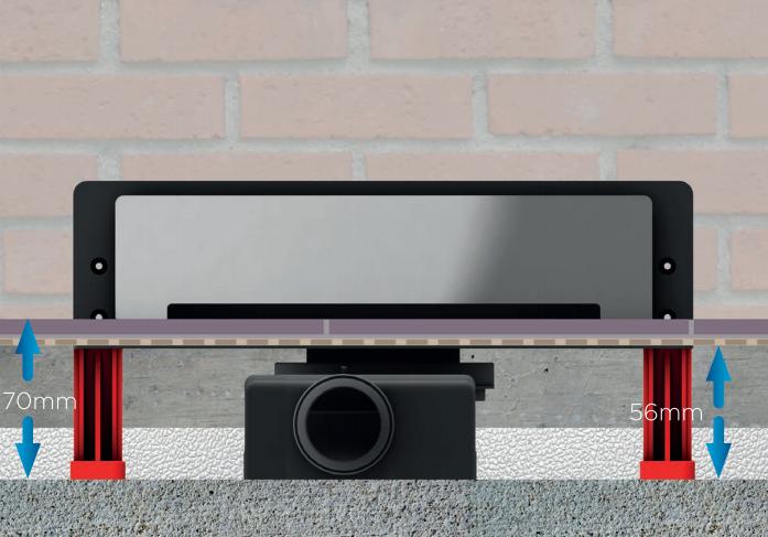Odpływ ścienny Confluo Premium WALL DRAIN 310MM 54581